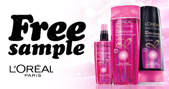 Free Sample Of L'Oréal Nutri-Gloss Shampoo And Conditioner ...