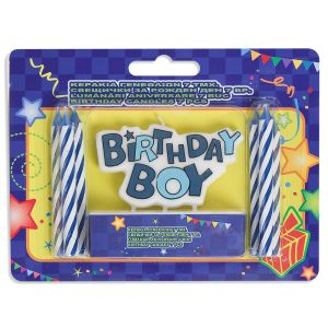 Doğum Günü Mumları Erkek - Birthday Boy