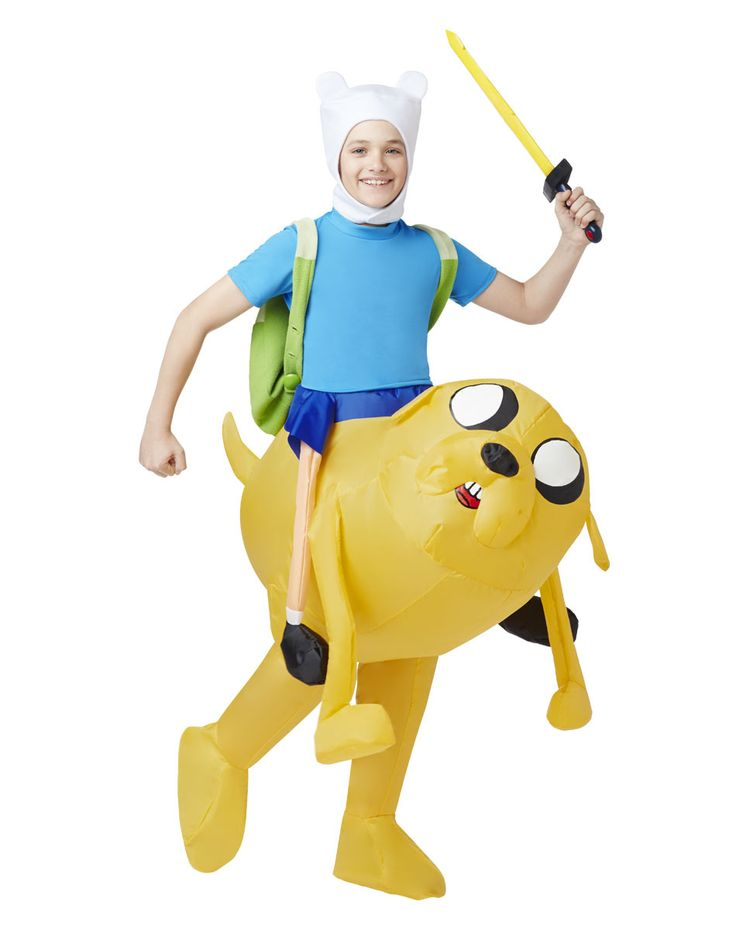 Adventure Time Finn Inflatable Boys Costume exclusively at Spirit Halloween - Adventure to a new dimension on Halloween wearing this officially licensed Adventure Time Finn Inflatable Boys Costume. Just make sure they have a reputation for giving good candy! You'll have your loyal sidekick Jake to keep you company at all times wearing this inflatable suit.Get yours for $49.99.