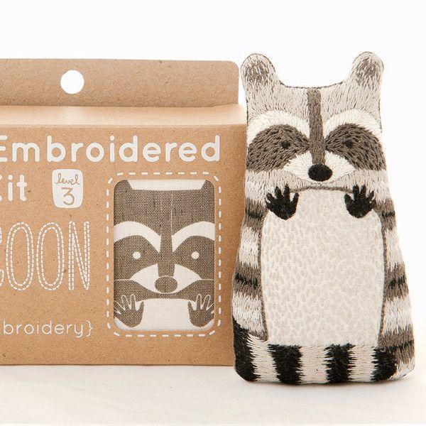 Raccoon Embroidery Doll Kit by Kiriki Press