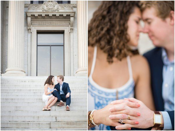 If you have a City Hall wedding, be sure to take a photo outside on the steps! :)  Andrea Pesce as seen on Hill City Bride