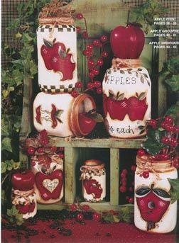 manzanas en frasco