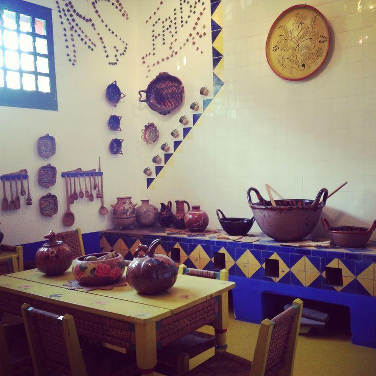 cocina de la casa azul