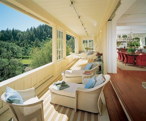 doors: Outdoor Furniture, Outdoor Living, Napa Valley, House, Porches, Outdoor Spaces, Architecture Digest, Sunroom, Pockets Doors