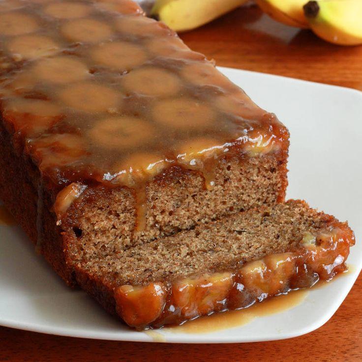 caramel banana upside down bread cake recipe