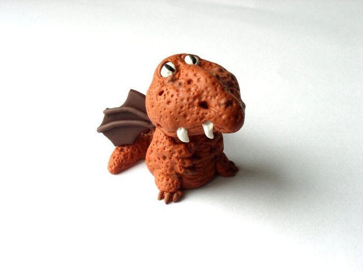 Ivana Simková - figurka draka z polymerové hmoty podle workshopu od Alessio Busanca