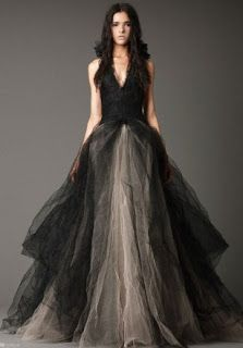Products that inspire: Gothic Black Wedding Dress