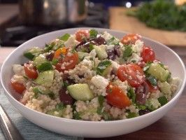 Bobby's Couscous Salad Recipe courtesy Bobby Deen Show: Not My Mama's Meals Episode: Taste of Mediterranean