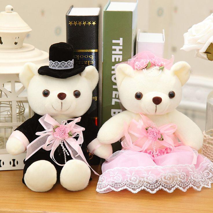 Свадебный автомобиль медведь любителей свадебные медведи пара, нажмите куклы плюшевые игрушки свадебный подарок, подарок на день рождения, рождественский подарок