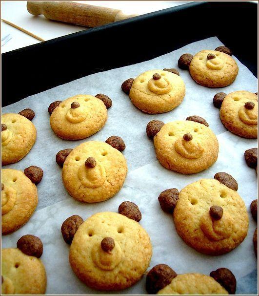 Biscuits oursons ! Les enfants vont adorer ce biscuits aux quelques notes de chocolat !: