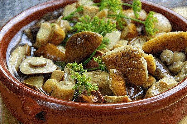 Простой маринад для консервации любых грибов ( опят, маслят, белых и т. д.)
