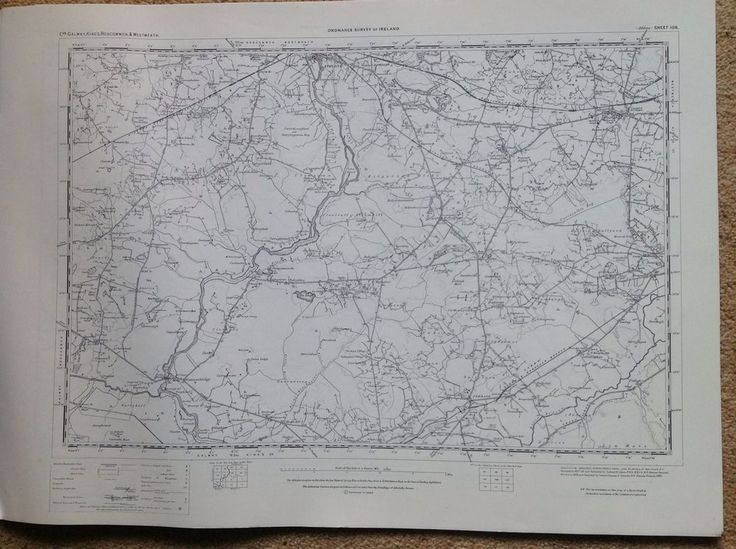 Ordnance Survey Map Athlone Ireland One Inch Flat 1900 Version Cartography