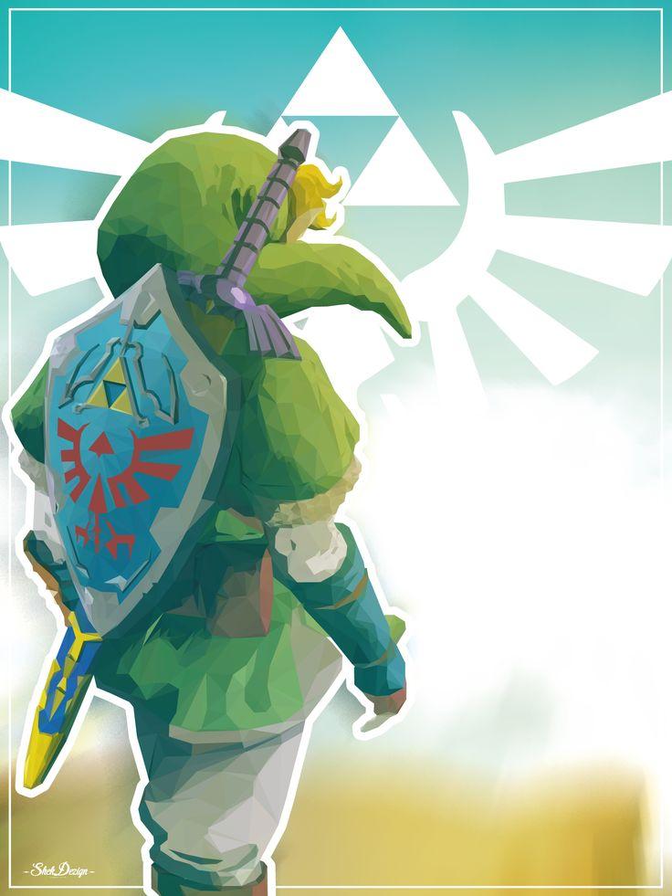 Link, le héros de la série Zelda sur Nintendo en version lowpoly