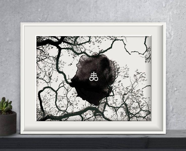 Leviathan No2, Poster, Print, Kunstdruck, Artwork, Premium Print, Wandkunst, Dark Art, Medieval, black and white von ArsMagnaDesign auf Etsy  #arsmagnadesign #wicca #witchcraft #okkult #darkart #blackandwhite #art #decor #home #gothstyle #interieur #ritual #leviathan #kreuz #wald #zweige #blackmetal #gothic #churchofsatan #schwefel #alchemy #symbol #doom #gloomy #morbid #artwork #naturephotography #black #metal #depressive #wohnkultur #posters #posterart #design #handmade #Dekoration…