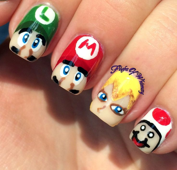 The 132 best Gamer Nail Art images on Pinterest | Minecraft nails ...