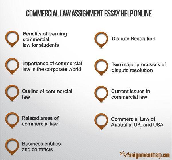 We provide the best online commercial law assignment help which are created by eminent PhD scholars of this field. Using this custom essay writing service,students can ensure higher marks.