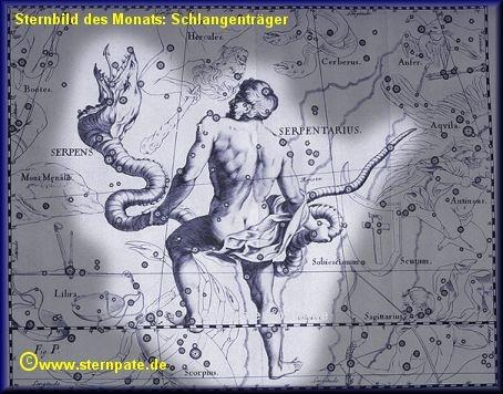 Sternbild Schlangenträger. Das größte Sternbild des Himmels!  Quelle & mehr Info: www.sternpate.de