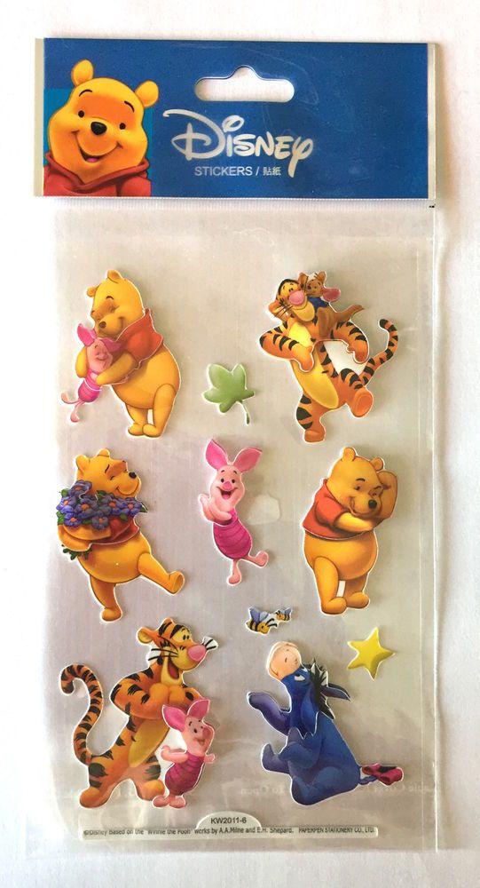 Stickers Winnie l ourson Disney Autocollants Gommettes Enfants 3D
