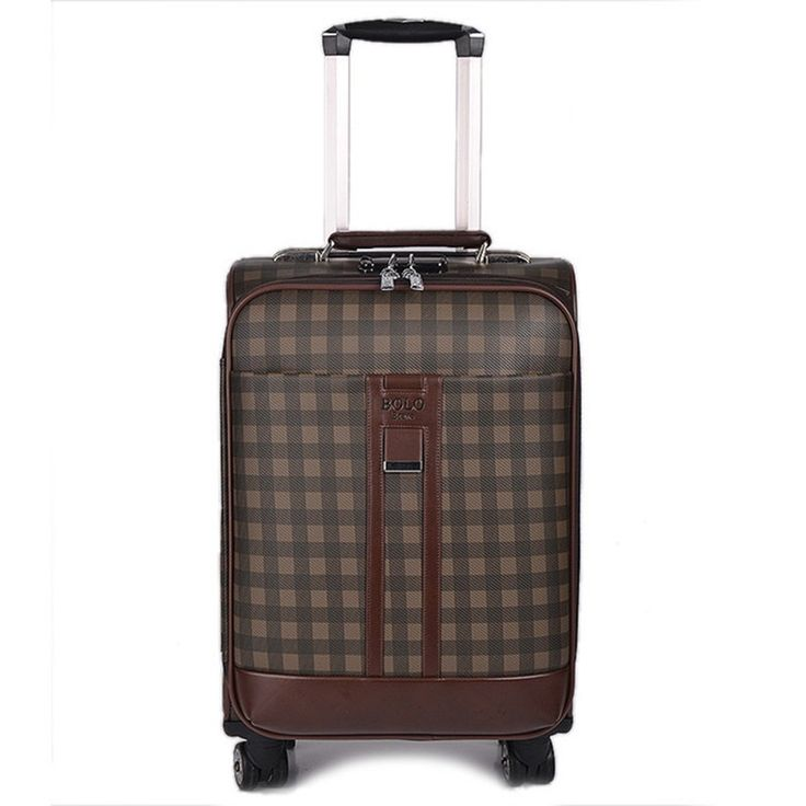 124.63$  Watch here - http://alii79.worldwells.pw/go.php?t=32368935363 - BOLO BRAVE 20 24 INCH PU Leather lattice Travel Luggage Bags Business Trolley Case Men Suitcase Bag high quality man commercial 124.63$