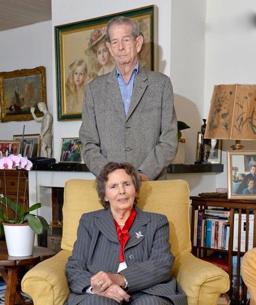 misshonoriaglossp:  King Michael and Queen Anne of Romania, released a photo for the Queen's 90th birthday, September 18, 2013.  The King will be 92 on October 25.