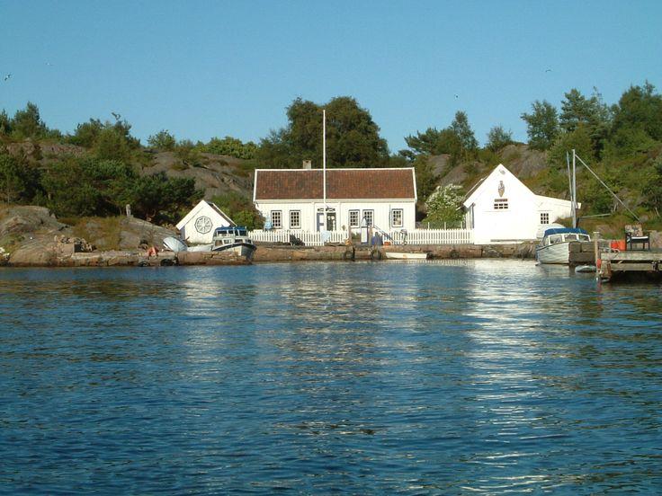 Huset til sørlandsdikteren Vilhelm Krag i Havbukta i Ny-Hellesund