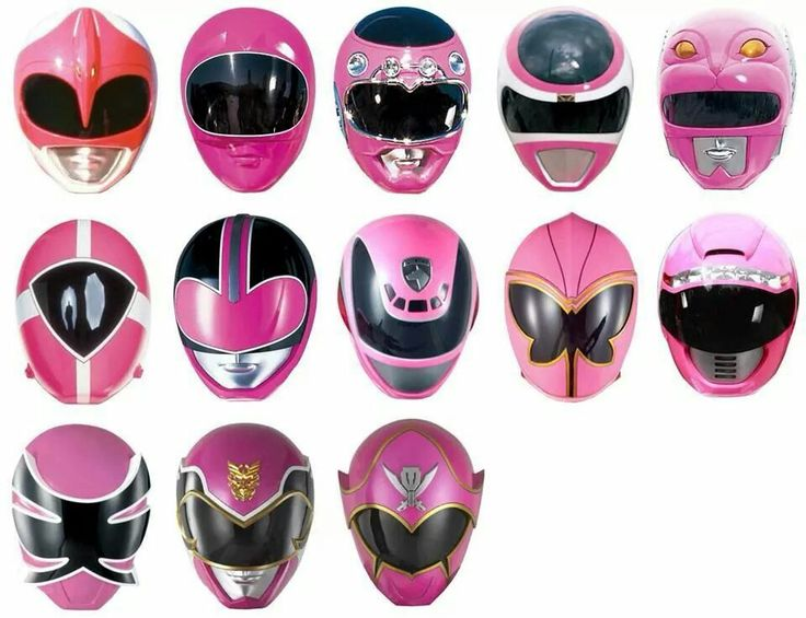 Pink Ranger Helmets - MMRP onwards