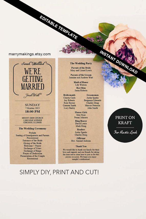 Wedding Program Template 11 Printable Program
