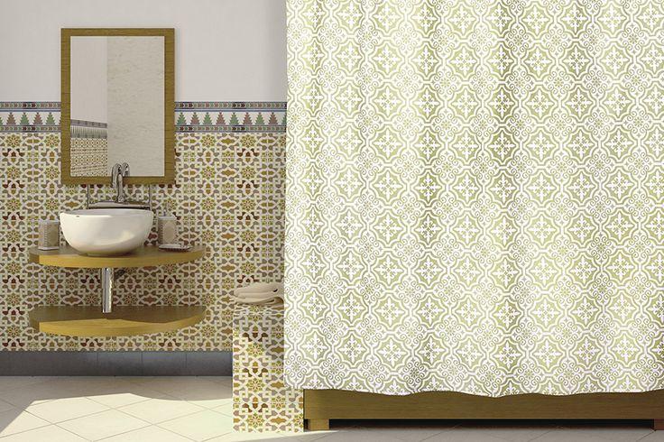 WESS Fudjeira - занавеска для ванной комнаты из ткани 180x200 см. Цена 695р. Посмотреть на сайте: http://likemyhome.ru/catalog/shtorki-karnizy-kolca/00005888 #likemyhome #showercurtain #bathroomdecor #interiorstyle #wess #fudjeira