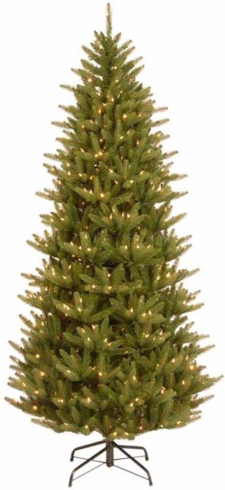 Slim Artificial Christmas Tree with Clear Lights Holiday Decor 7.5 Feet Tall  #ArtificialChristmasTree #ChristmasTree #Artificial #Slim #ClearLights #Tree #HolidayDecor #Decor #Holiday #Lights #Christmas
