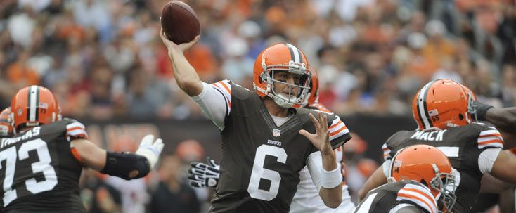 Browns quarterback Brian Hoyer is officially the starter for today's Steelers game at Heinz Field, but the Browns said they may go with a two-QB system.
