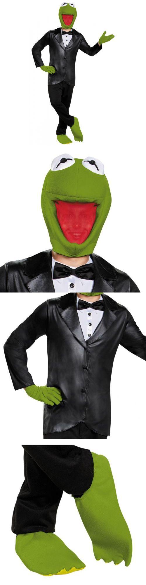 Men Costumes: Kermit The Frog Costume Adult Muppets Halloween Fancy Dress -> BUY IT NOW ONLY: $45.69 on eBay!