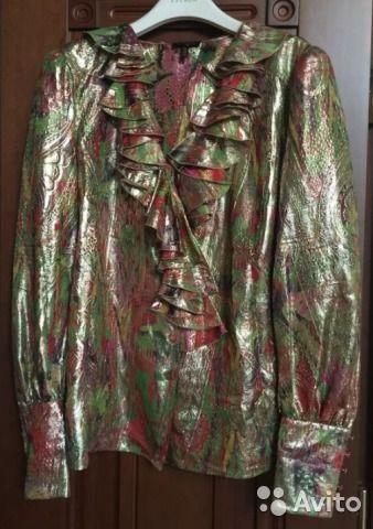 Гламурная парчовая блузка Escada— фотография №1