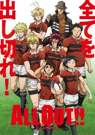 """The new sports anime """"All Out!!"""" is now playing on crunchyroll. Already a total of three episodes so far. If your an anime sports fan, go check it out! #ALLOUT!! #sportsanime #crunchyroll"""