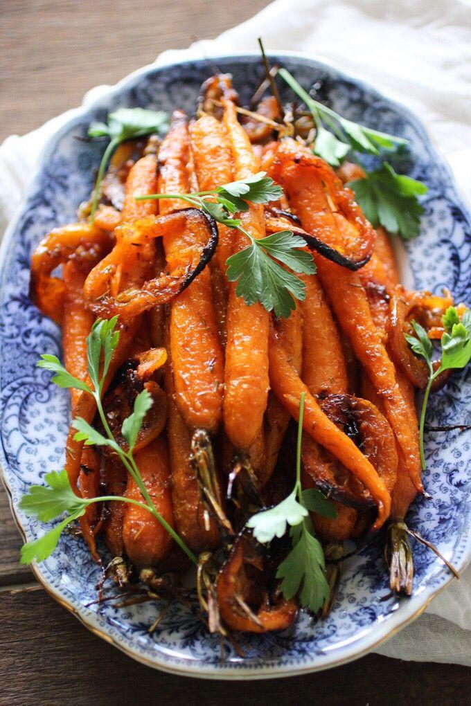 Addictive Harissa & Maple Roasted Carrots.