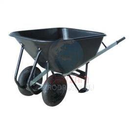 Talicska, 180 literes műanyag putonnyal, 2 felfújható kerékkel