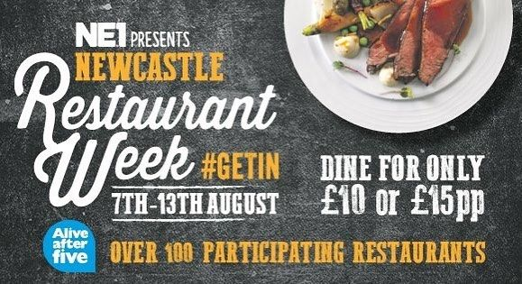 It's that time of year again  RESTAURANT WEEK is back from 7th -13th August. Dine from just 10 per person.  Hurry - limited availability. Call 0191281277 to snap up your table! #ne1restaurantweek #newcastlerestaurantweek #restaurantweek  #newcastledeals #ne2 #jesmond #instafood