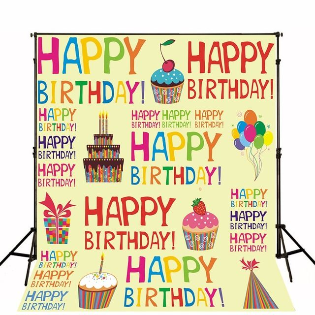 Children Birthdays Photographic Backgrounds Vinyl Photo Backdrops Toile De Fond Baby Party Background For