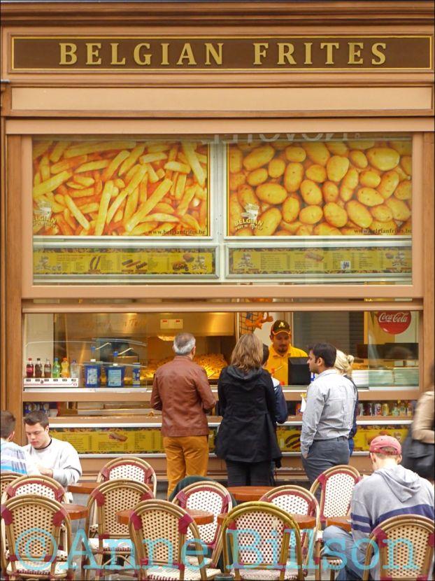 Belgian frites bis: Grasmarkt, Brussel. | Belgium | Pinterest