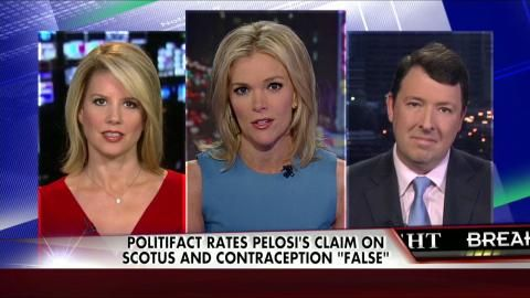 """7/11/14 - """"Give Me a Break"""" : Megyn Reacts to Pelosi's Office Saying She """"Misspoke"""" About Hobby Lobby Ruling - - The Kelly File 