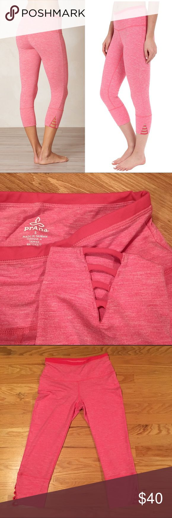 Prana Tori Capri - Azalea Prana Tori Capri in Azalea color, size small. Worn once, excellent condition. Cute cut-outs on the sides! Prana Pants Leggings