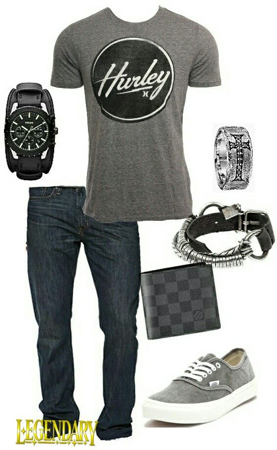 Men's fashion casual jeans outfit                                                                                                                                                     More