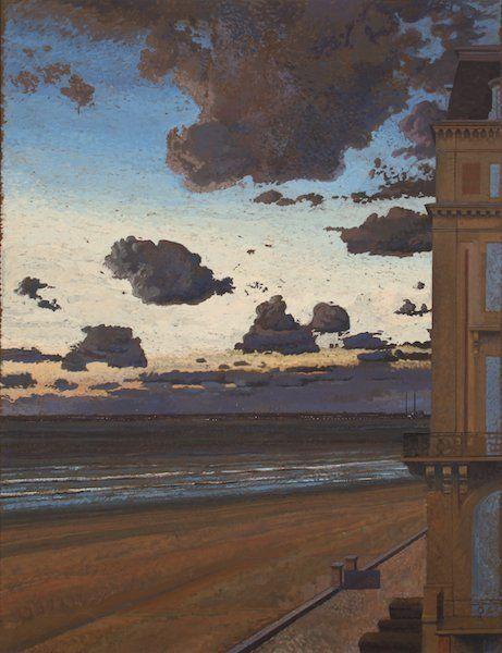 Jean-Baptiste Secheret - Trouville - Peinture à la colle - France