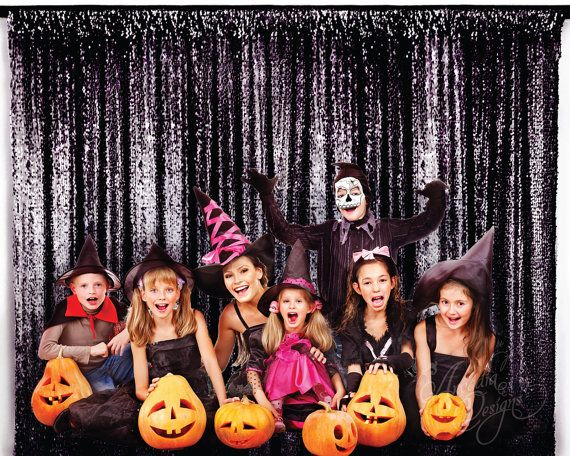 Halloween Party Photo Booth Prop Black Sparkly by All4partytime.