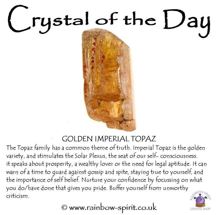 Crystal healing properties of Imperial Topaz