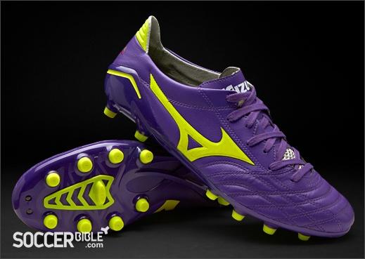 Mizuno Morelia Neo Football Boots - Purple/Yellow/White http://www.soccerbible.com/news/football-boots/archive/2012/05/06/mizuno-morelia-neo-football-boots-purple-yellow-white.aspx