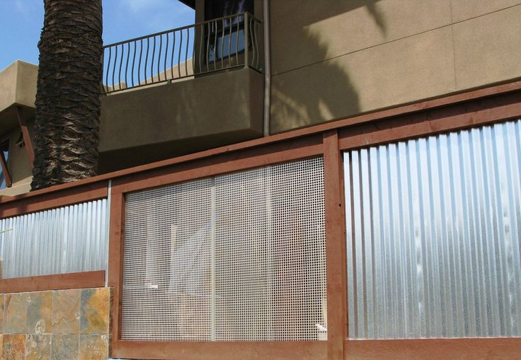 Used Corrugated Metal As Fencing Corrugated Metal Fence