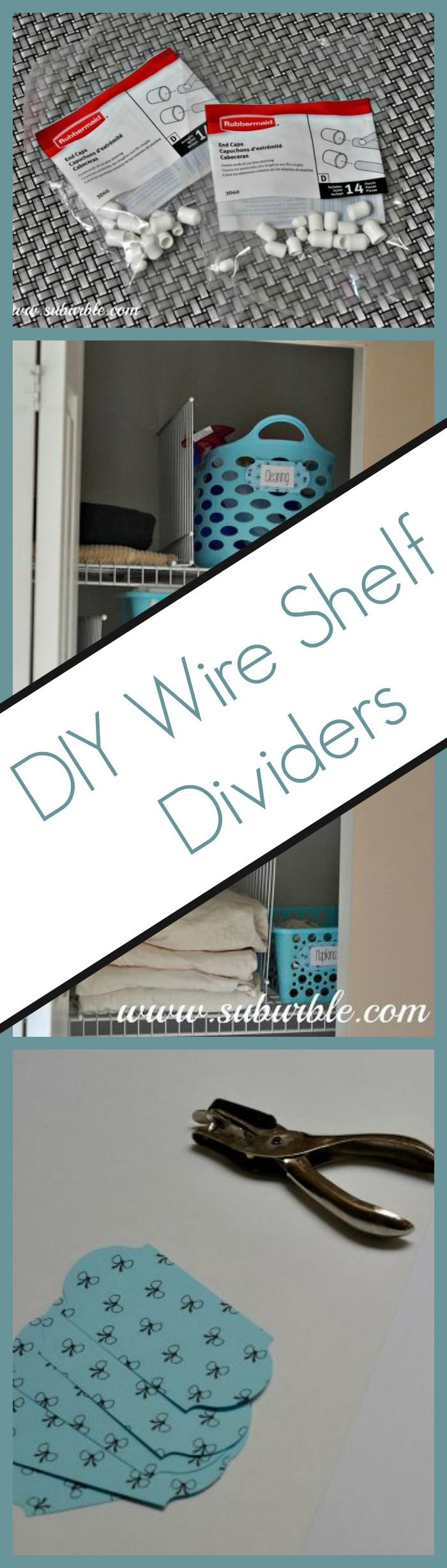 The cost of wire shelf dividers can be costly but you can DIY your own in minutes!