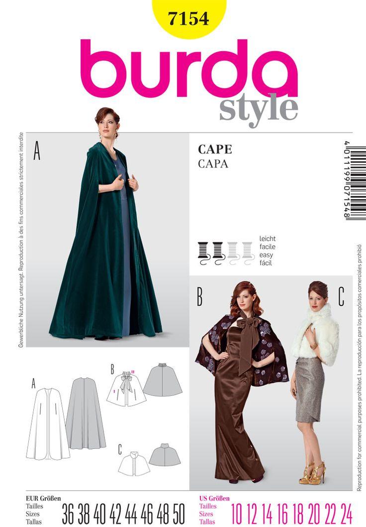 Mejores 16 imágenes de capes en Pinterest | Patrones de costura ...