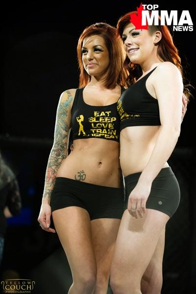 Faye and Katie, Havoc Fighting Championships' 2013 Ring Girls!