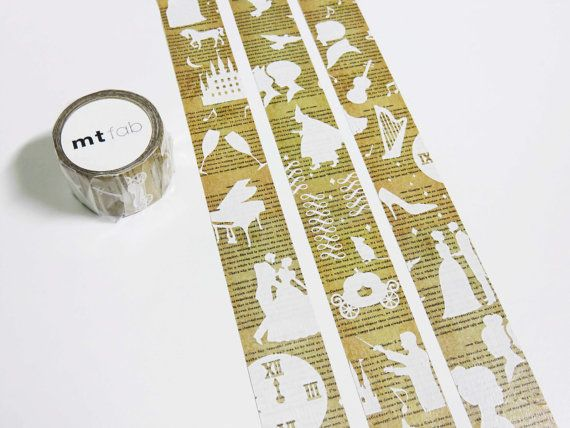 mt fab story - washi tape with design of Disney's Cinderella  I just need this in my life!!